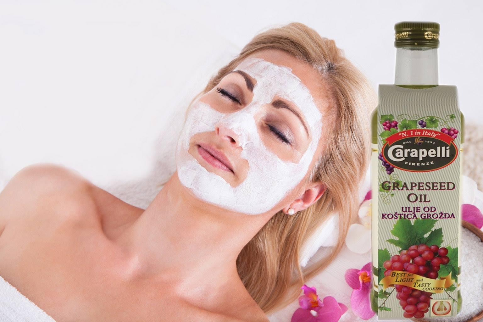 Maska za lice sa uljem od koštica grožđa