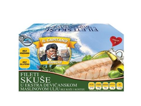 IL Capitano skuša fileti u maslinovom ulju - vitaminska bomba koja ubija viruse