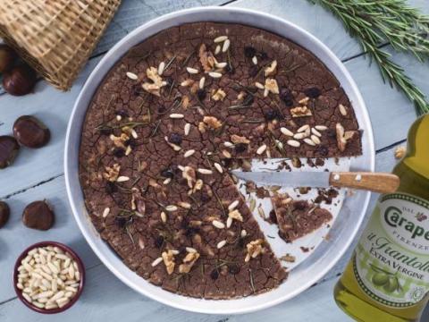 Castagnaccio (toskanski kesten kolač)