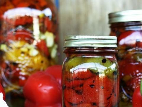 Paprike u maslinovom ulju (zimnica)