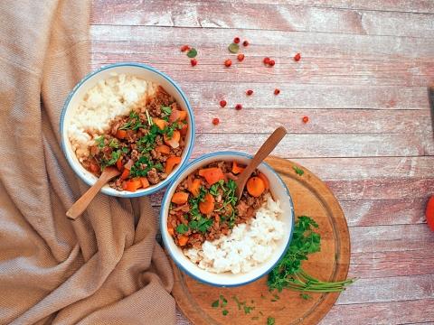 Rižoto s junetinom i povrćem