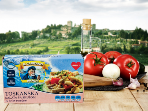 "IL Capitano toskanska salata sa skušom – ""proteinska bomba"""