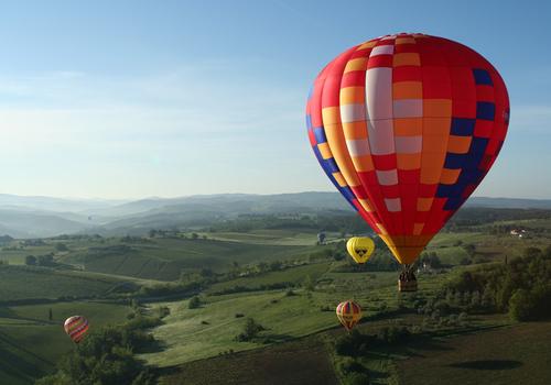 Pogled na Toskanu iz balona