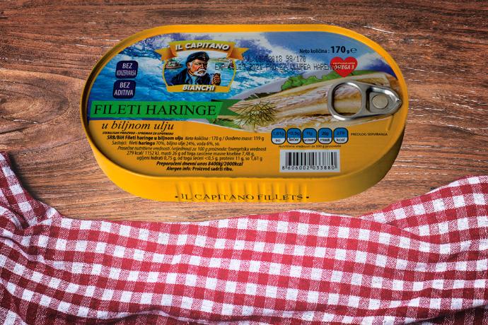IL Capitano haringa filet u ulju hansa - zdravlje u tanjiru