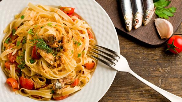 Taljatele sa sosom od sardina