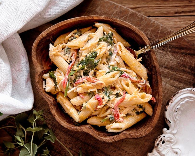 Italijanske pene sa spanaćem i paprikom