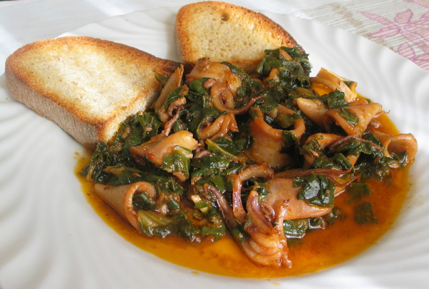 Lignje u toskanskom Zimino sosu