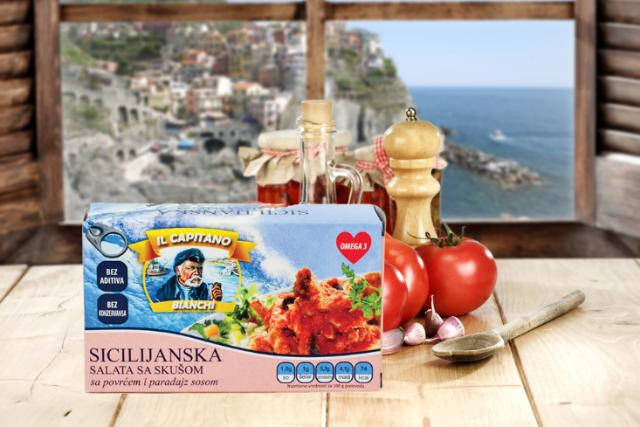 Ukus Sicilije uz IL Capitano sicilijansku salatu sa skušom